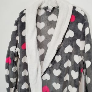 Secret Treasures Plush Full Length Heart Robe S XL